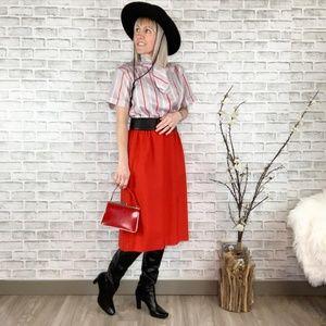 Vintage 70s style Pussy Bow Secretary Midi Dress